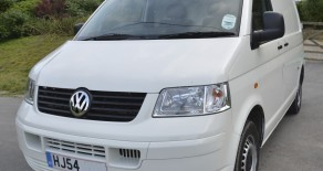 VOLKSWAGEN T5 TRANSPORTER 54 plate 1.9TDI 104PS only 55,000 warrantied miles plus colour coded bumpers